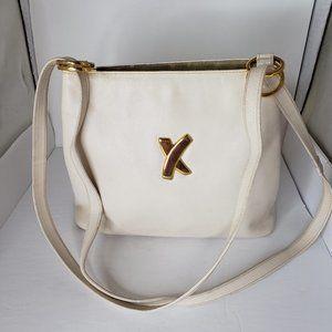 Vintage Paloma Picasso Cream/White Leather Bag